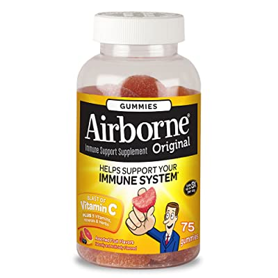 Airborne Assorted Fruit Flavored Gummies, 75 co...
