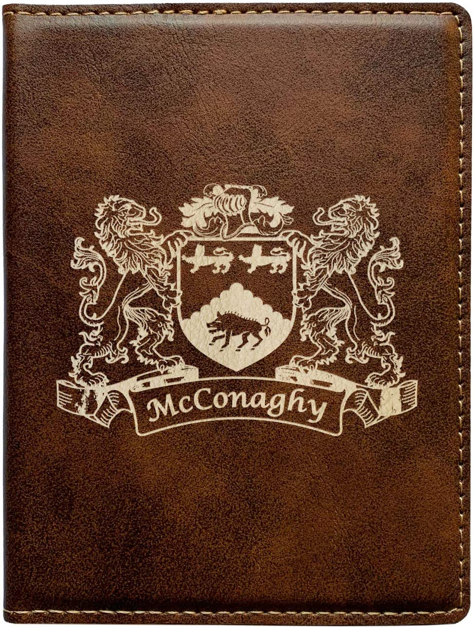 McConaghy Irish Coat of Arms Leather Passport Wallet