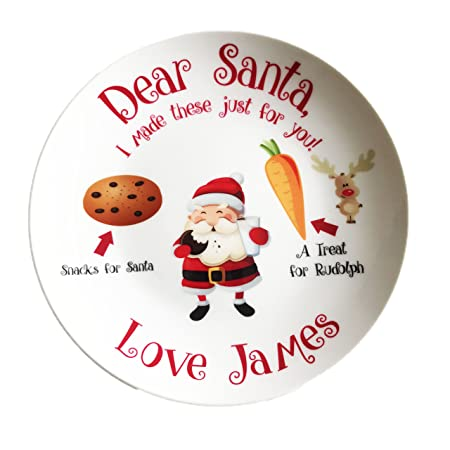 Christmas Eve Printed Santa Snack Plate Mince Pie Plate Gift Idea Occasion Gift  sc 1 st  Amazon UK & Christmas Eve Printed Santa Snack Plate Mince Pie Plate Gift Idea ...
