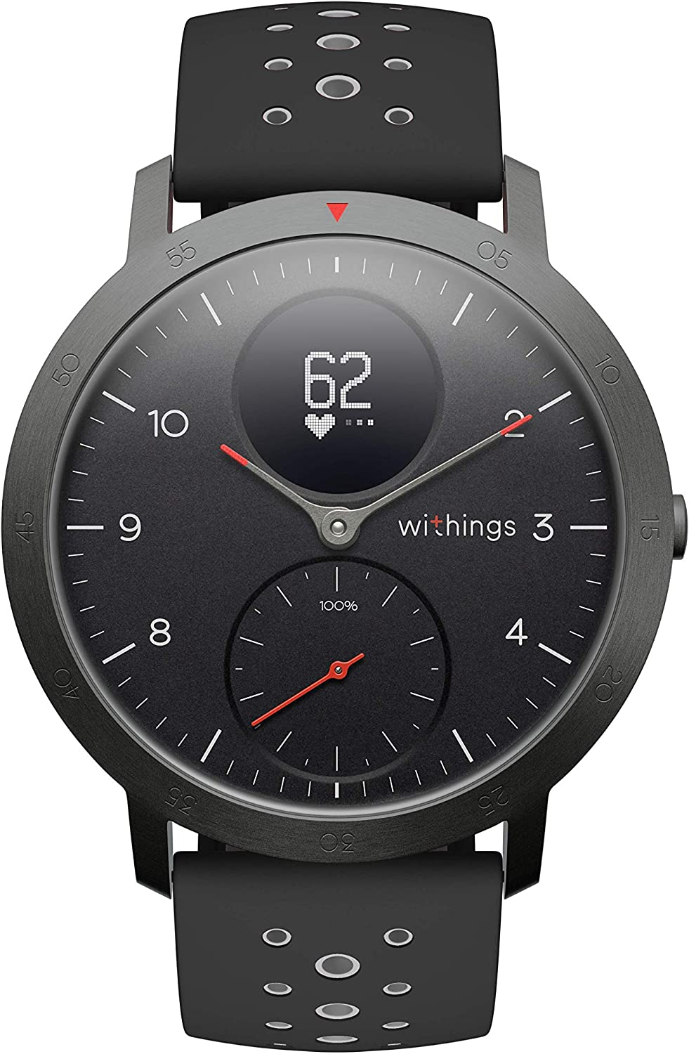 Withings Steel HR Sport Smartwatch (40mm) - Activity Tracker, Heart Rate Monitor, Sleep Monitor, GPS, Water Resistant Smart Watch