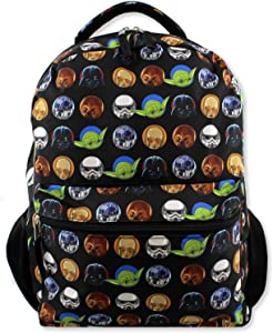 Star Wars Boy's Girl's Adult's 16 Inch School Backpack (One Size, Black)