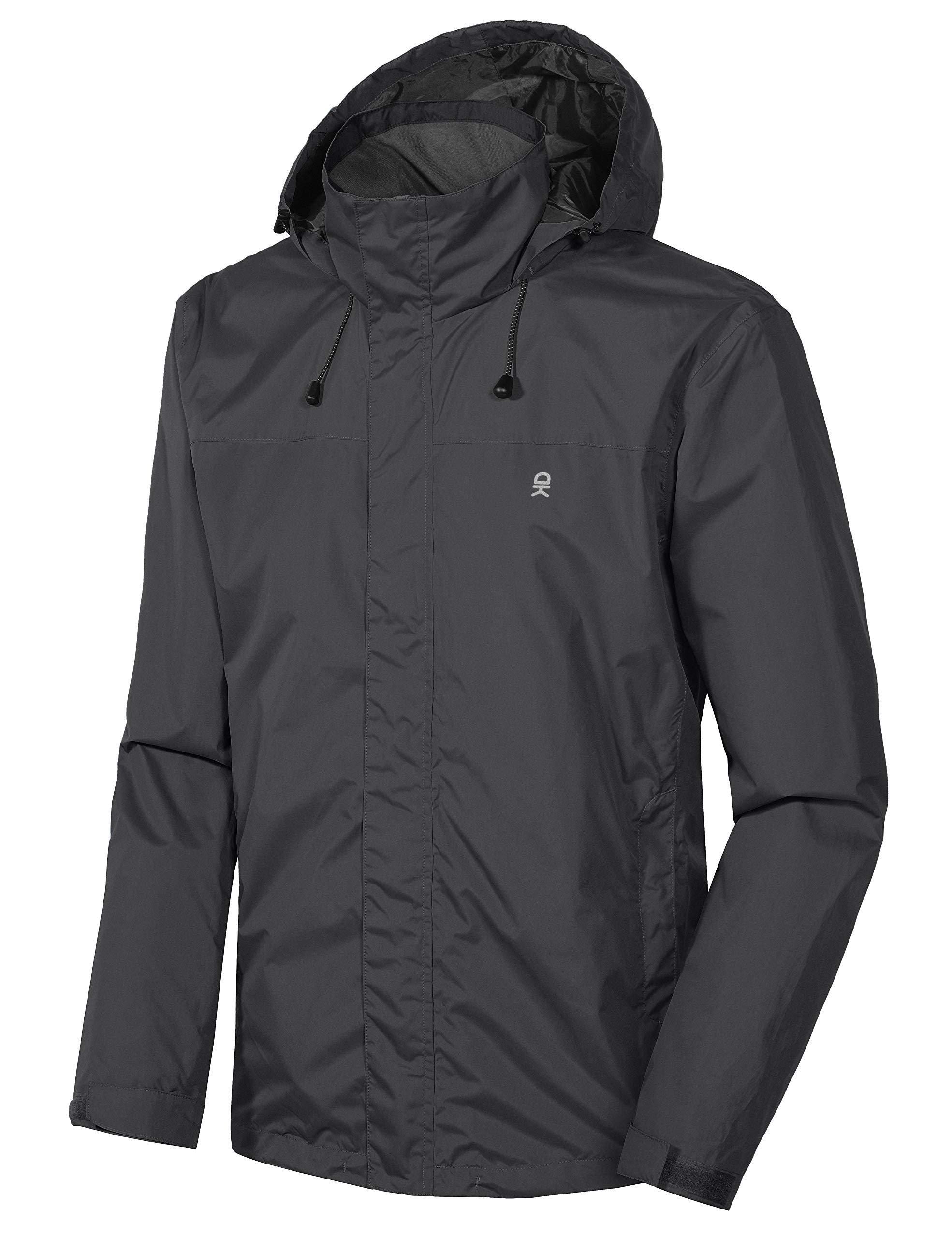 Little Donkey Andy Men's Waterproof Mountain Jacket, Rain Jacket Black Size L by Little Donkey Andy