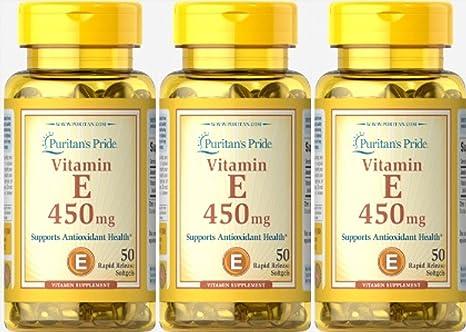 Vitamina E 1000 IU 50 perlas. E1000. (Pack 3u.)