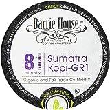 Barrie House Organic & Fair Trade Certified Sumatra Kopi Gr-1 Single Cup Capsules (24 Capsules)