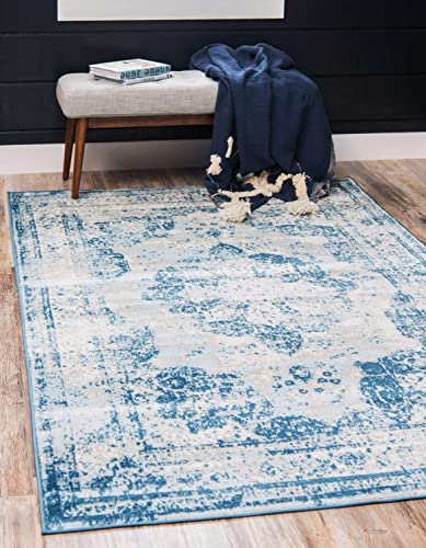 Unique-Loom-Sofia-Collection-Traditional-Vintage-Blue-Area-Rug