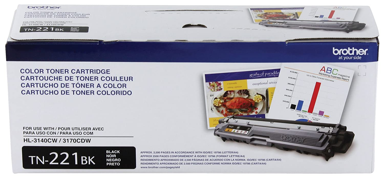 amazon com brother genuine tn221bk color laser black toner