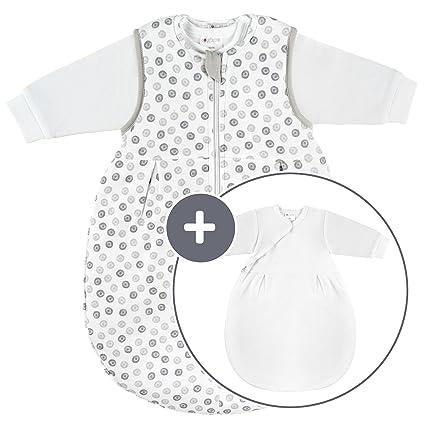 Coconette Circle Saco de dormir bebé todo el año - 2 Piezas: saco exterior forrado