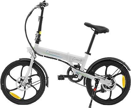 Oferta amazon: SMARTGYRO Ebike Crosscity White - Bicicleta Eléctrica Urbana, Ruedas de 20