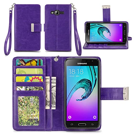 check out 494ab 65aff Samsung Galaxy J3 Case, Galaxy Amp Prime Case, Galaxy Express Prime Case,  Galaxy Sky/Sol / J3 V Case - IZENGATE [Classic Series] Wallet Cover PU ...