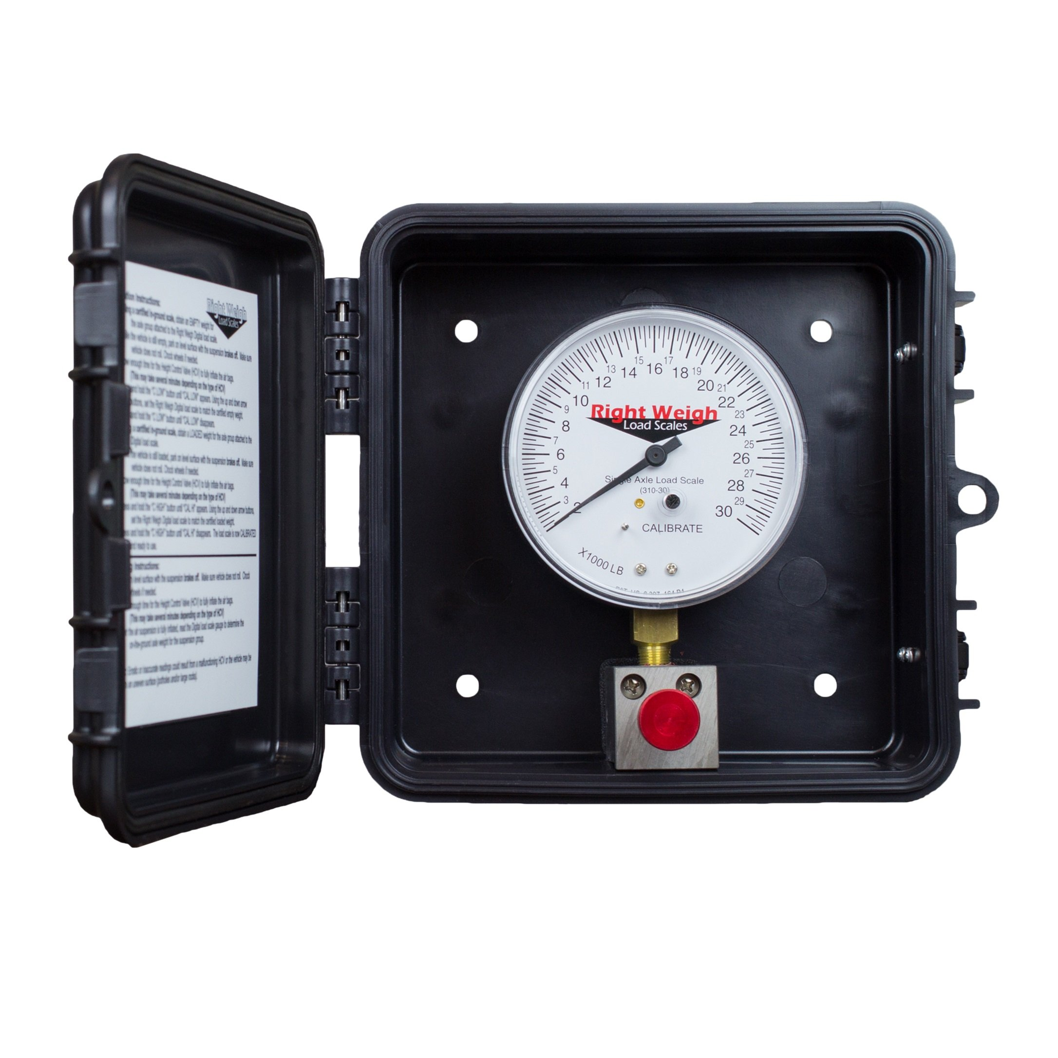 310-30-PP Single-Axle Exterior Analog Load Scale - for Single Height Control Valve Air Suspensions