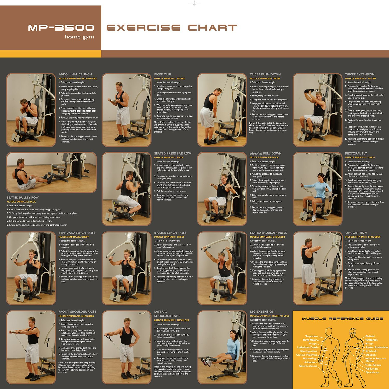 Marcy MP3500 Platinum Home Multi Gym with Thigh Trainer: Amazon.co ...