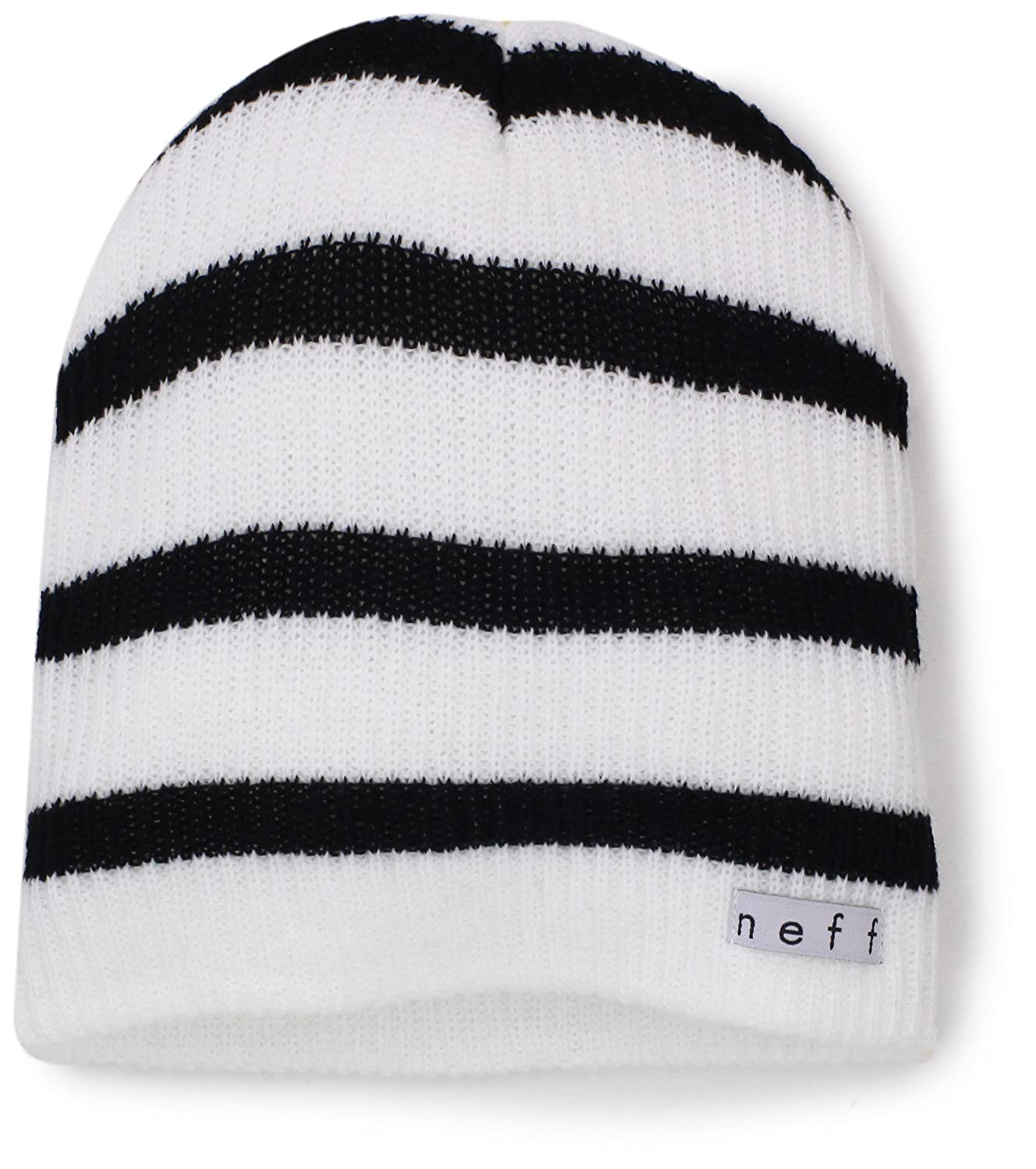 8fb4550b284 Amazon.com  NEFF Daily Stripe Slouchy Beanie Hats - Knit Beanie for Winter  - Winter Hats for Men   Women  Clothing