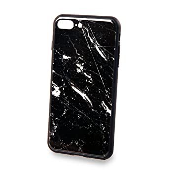 coque marbre noir iphone 8 plus