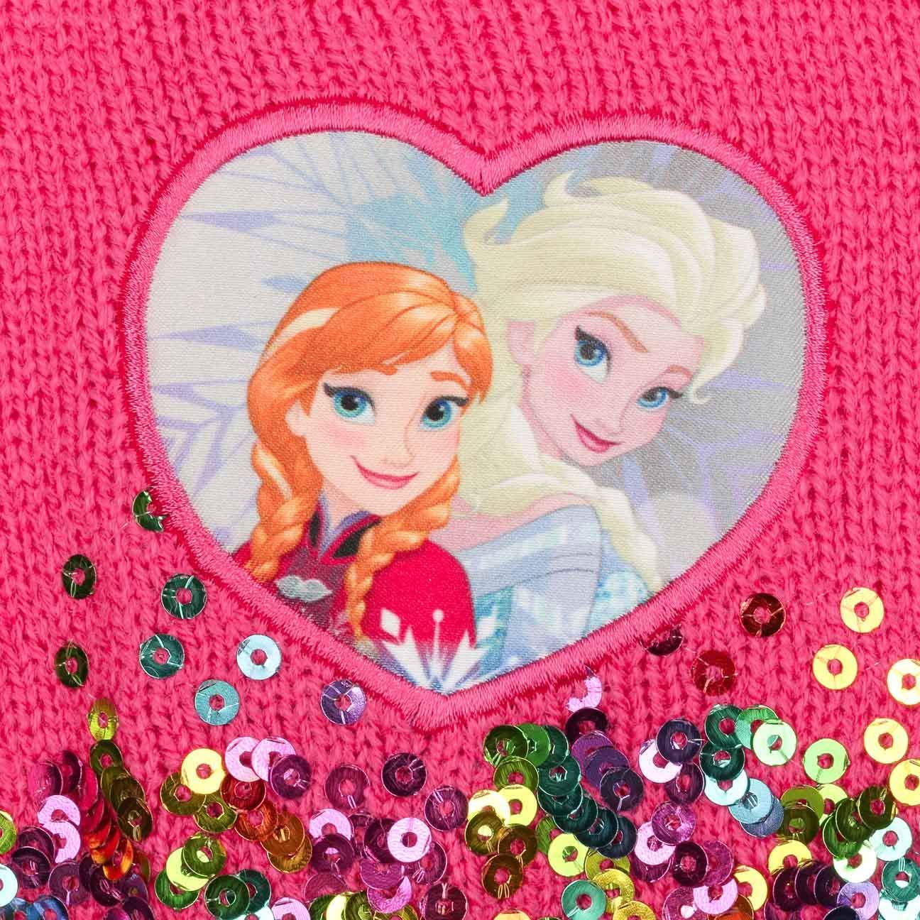 Cappellishop Berretto con Lustrini Elsa ed Anna Frozen Beanie da Ragazza Invernale