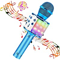 BlueFire Karaoke Microphone 4 in 1 Bluetooth Karaoke Microphone Wireless Handheld Microphone Portable Speaker Machine…