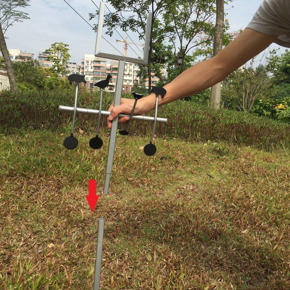 14/* 14/cm soporte para objetivo papel de anzuelo y animales objetivo acero objetivo Diana viene con 20/pcs papel Target
