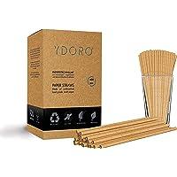 Ydoro   Kraftpapier-papieren rietjes 400 stuks   Eco-vriendelijke drinkrietjes Value Pack   100% biologisch afbreekbaar…