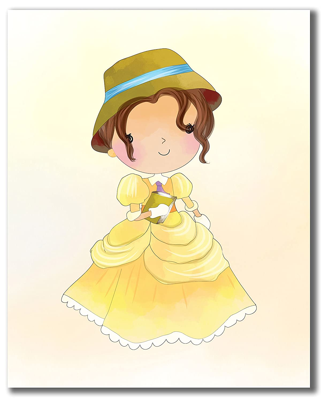 Amazon.com: Cute Princess Art Prints - Moana Megara Merida Anastasia ...