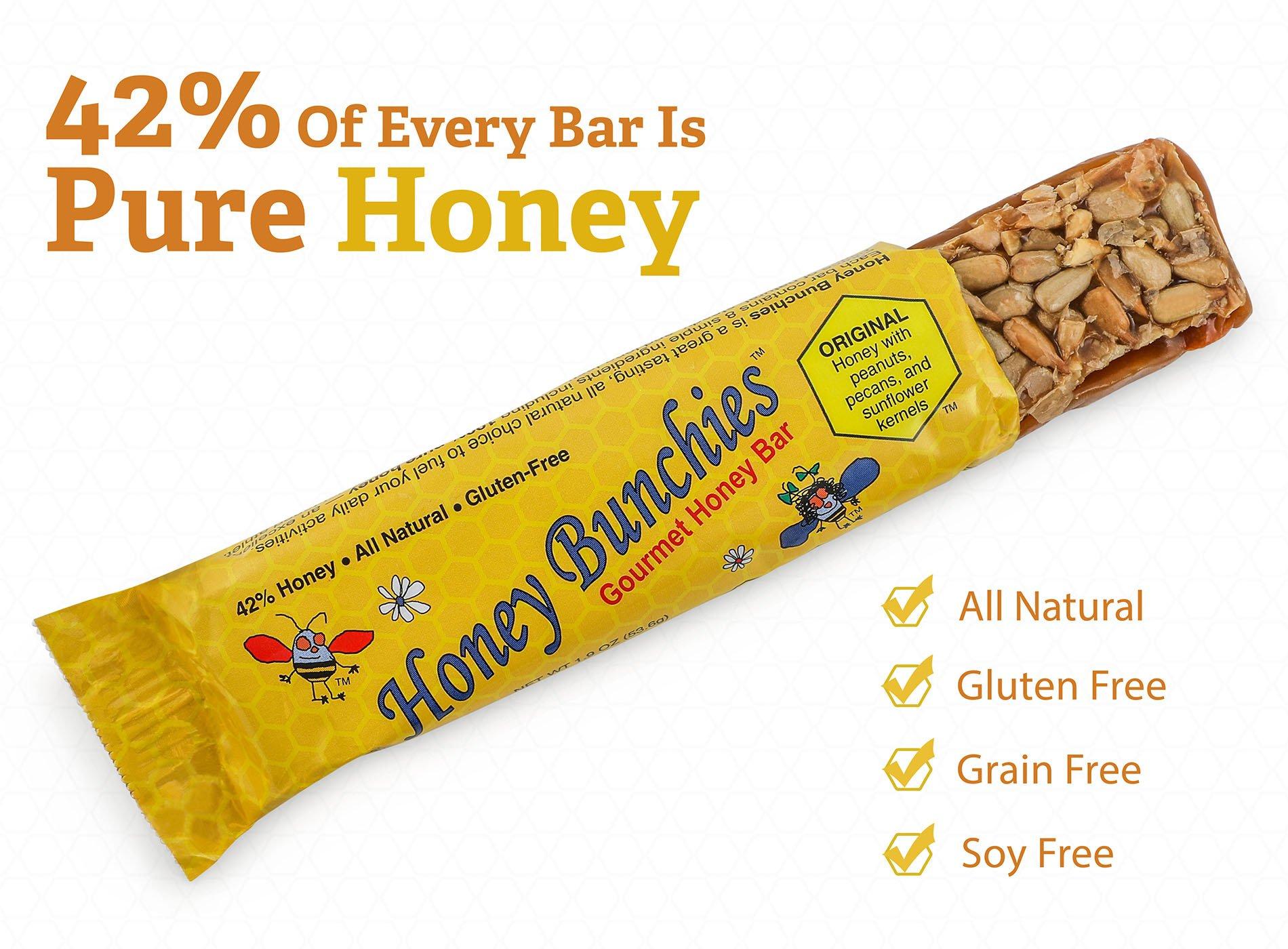 Honey Bunchies Gourmet Honey Bar, GLUTEN FREE, (20 Bar Box) by Honey Bunchies (Image #2)