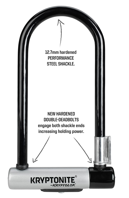 Kryptonite Kryptolok Standard Bicycle U-Lock w//4-foot Flex Cable