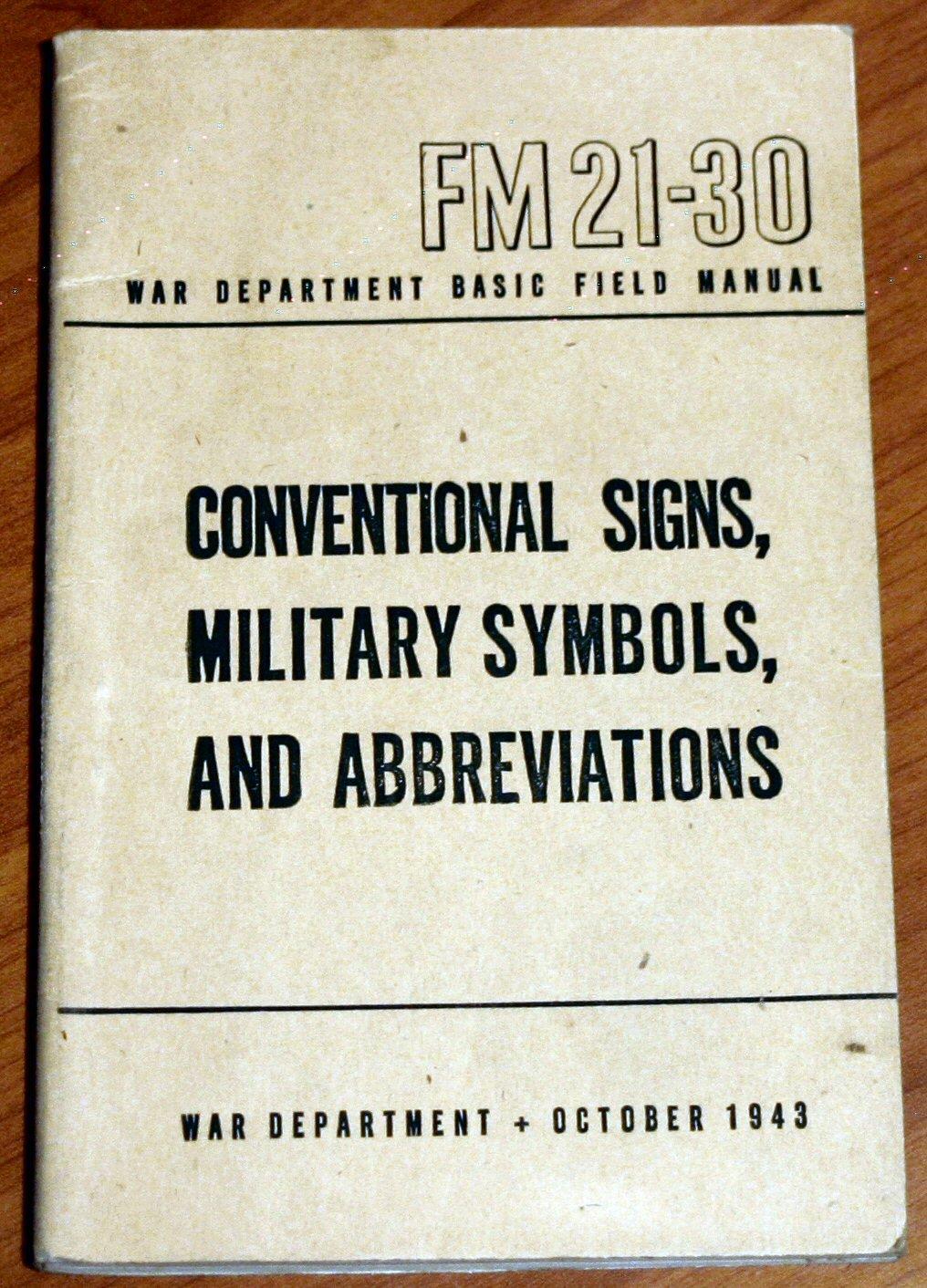 Conventional Signs Military Symbols And Abbreviations War