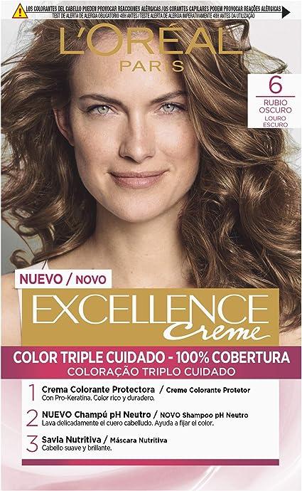 LOréal Paris Excellence Coloración Excellence Crème Triple Protección 6 Rubio Oscuro