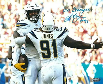 pretty nice 95ede 16782 Justin Jones Signed Los Angeles Chargers 8x10 Photo