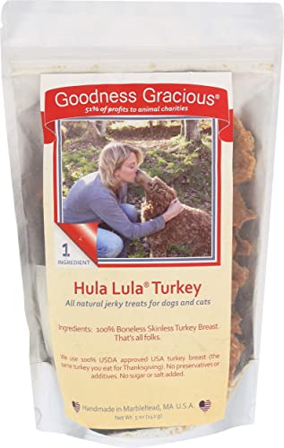 Goodness Gracious Dog Treat Jerky Turkey Hula Hula, 7 OZ