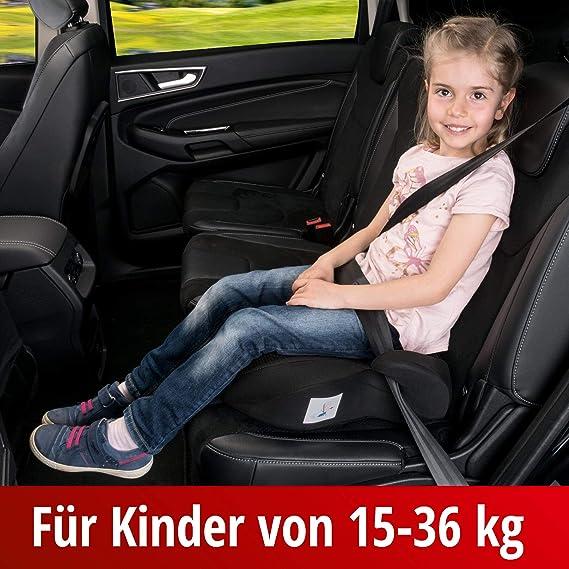 Walser Kindersitz Lino Kindersitzerhöhung Mit Gurtführung Sitzerhöhung Kinder Auto Autokindersitz Schwarz Auto