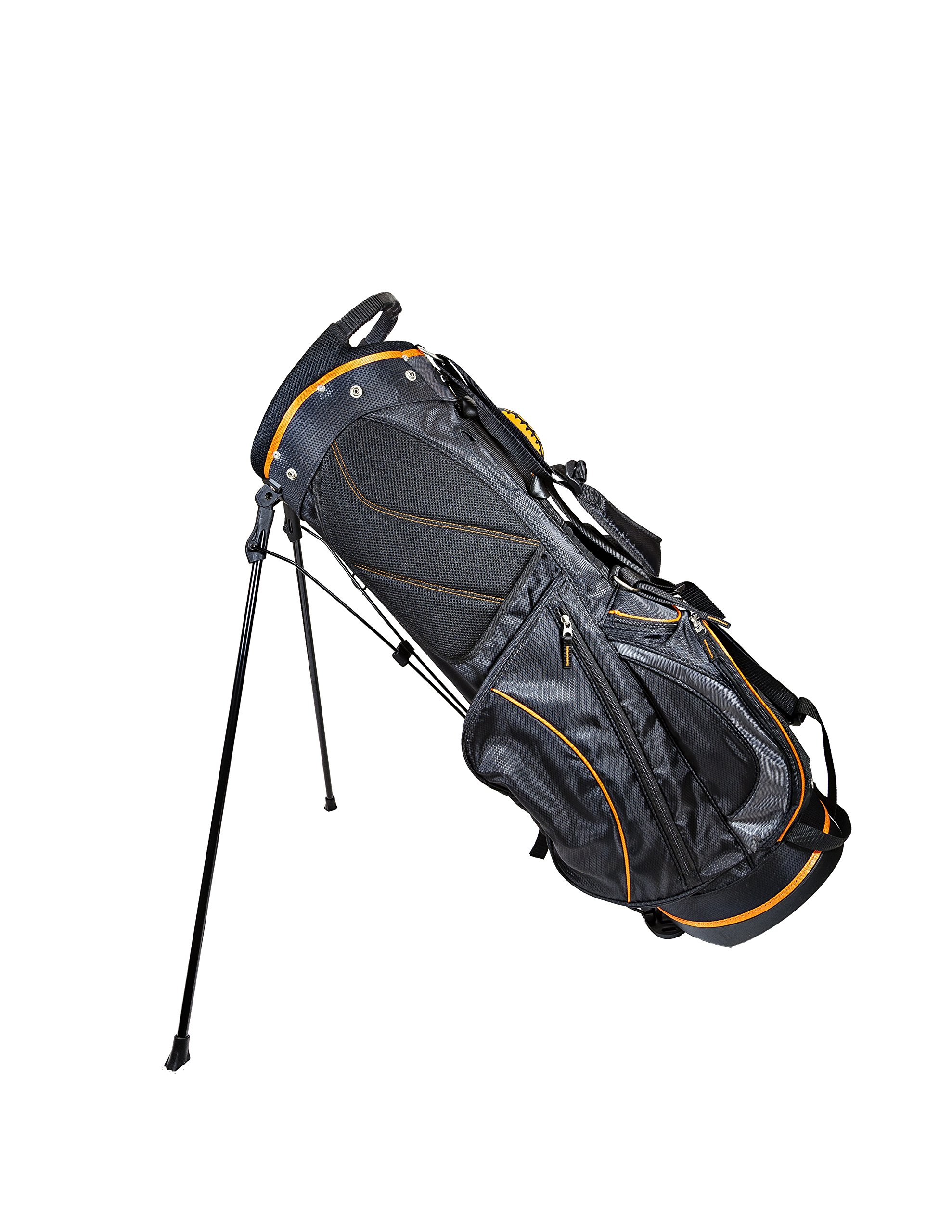 Club Champ Deluxe Stand Golf Bag, Black/Orange by Club Champ