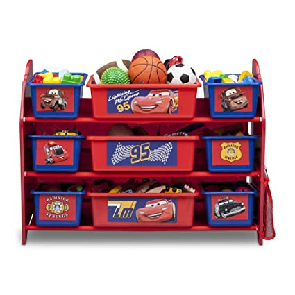 Charmant Delta Children Disney Cars 9 Bin Plastic Toy Storage Organizer