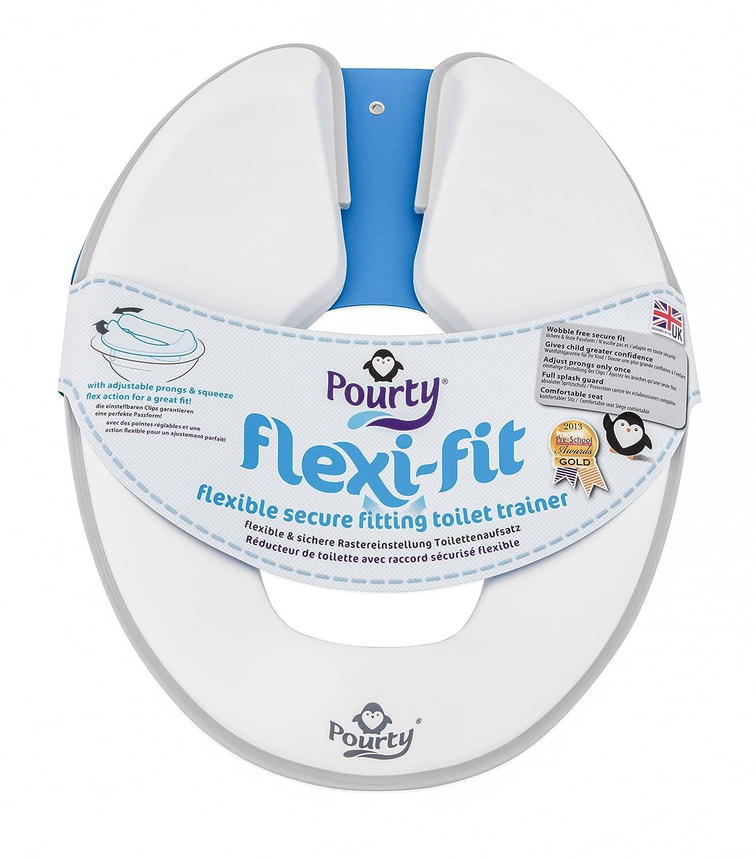 Pourty Flexi-Fit de inodoro ping/üino blanco//gris