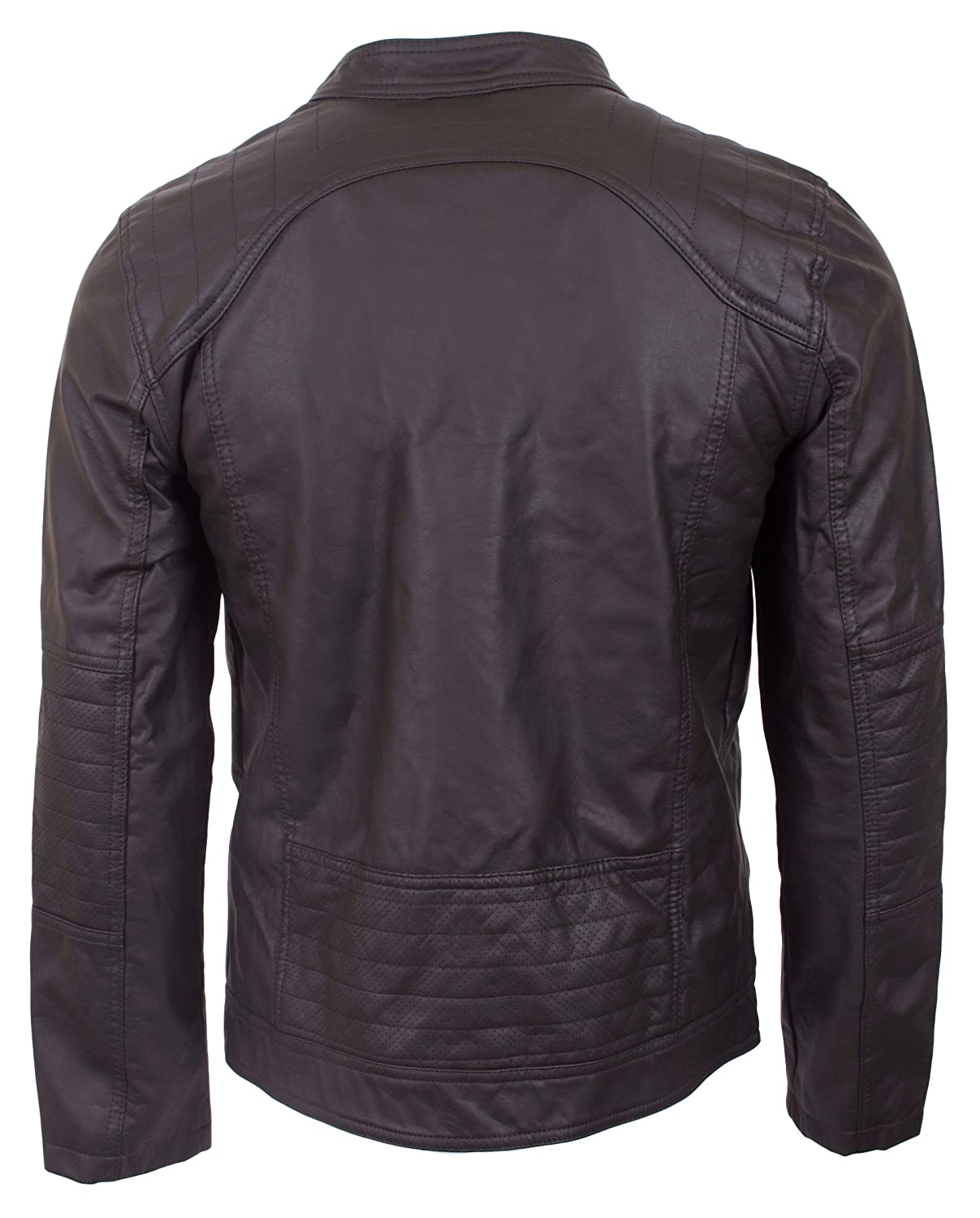 Amazon.com: urban republic Men s chamarra de moto de piel ...