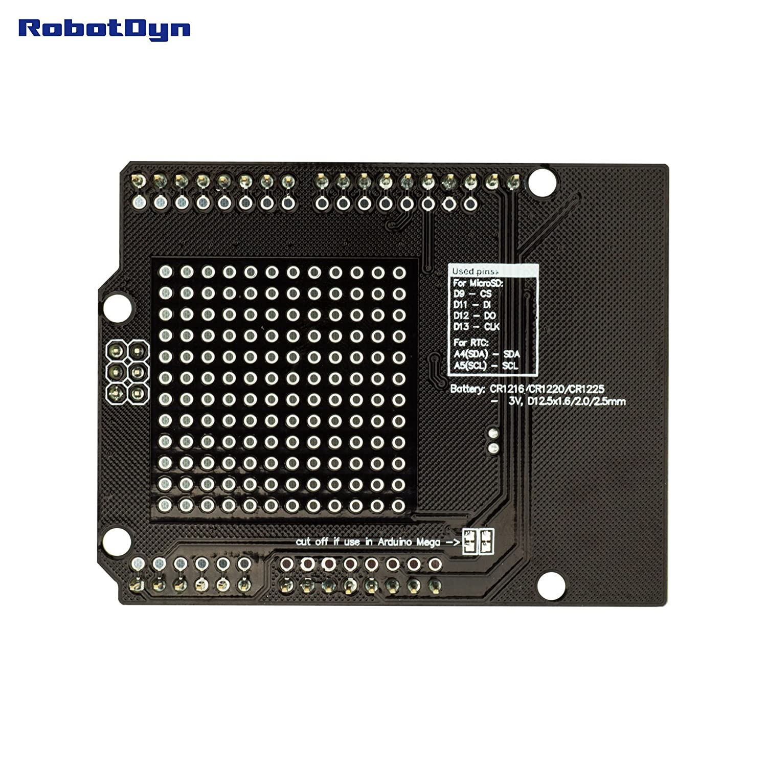 Robotdyn Data Logger Logging Shield Compatible For Arduino Real Time Clock Schematic Microsd Card Rtc Assembled With Battery Computers Accessories
