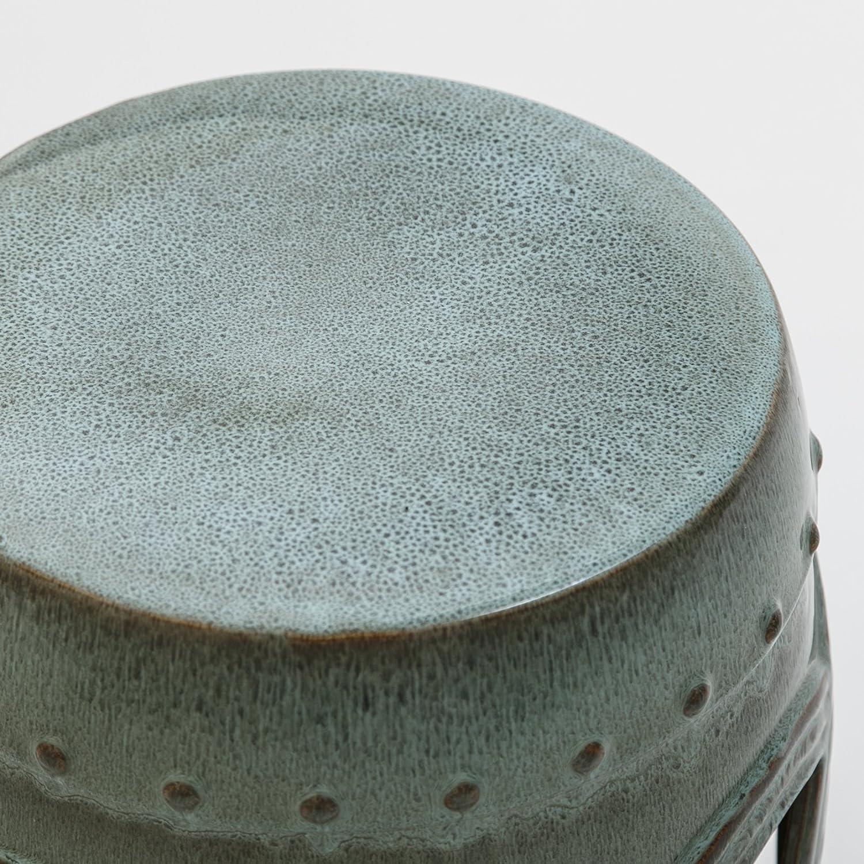 Abbyson Ellie Ceramic Garden Stool Black