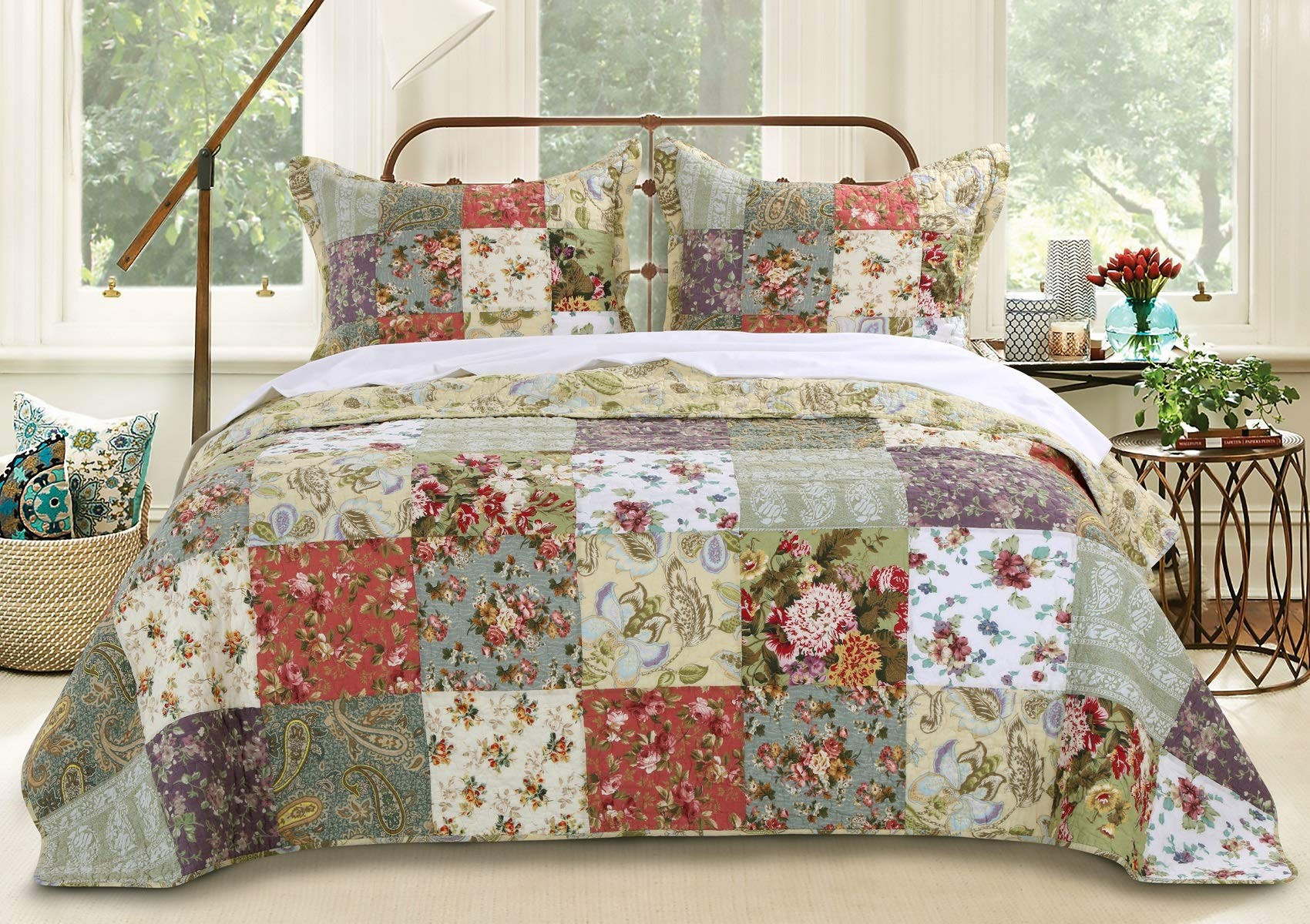 Greenland Home Blooming Prairie King 3-Piece Bedspread Set by Greenland Home