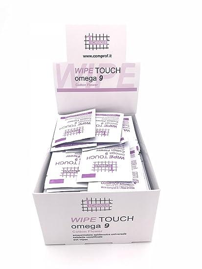 Technique, Wipe Touch Omega 9 - Quitamanchas epidérmico universal, toallitas húmedas, paquete de