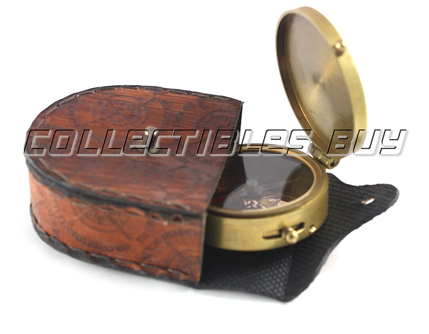Collectibles Buy Antique Marine Plane Design Nautical Royal Compass with Leather Case Nautical Gift Article