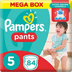 Pampers Pants Diapers, Size 5, Junior, 12-18 kg, 84 Count
