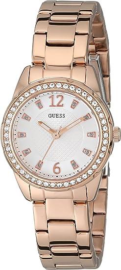 GUESS Women's Petite Rose Gold-Tone Bracelet Watch