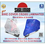Shalimar Cross Laminated Universal Bike Cover (Blue Color)
