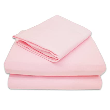 TL Care 100% Jersey Cotton 3-Piece Toddler Sheet Set, Pink