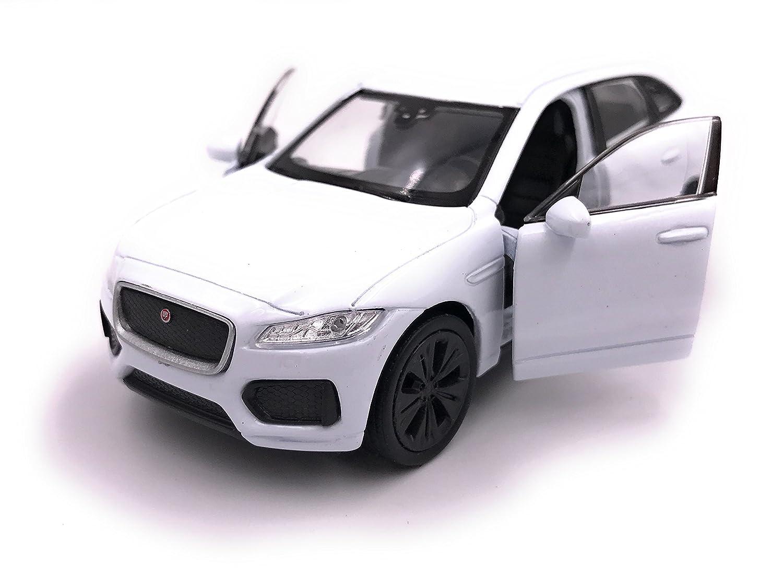 Welly Jaguar F-Pace SUV Modè le de Voiture Auto Licence Produit 1: 34-1: 39 Blanc