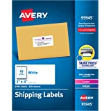 Avery Shipping Address Labels, Laser & Inkjet Printers, 2,500 Labels, 2x4 Labels, Permanent Adhesive (95945), White