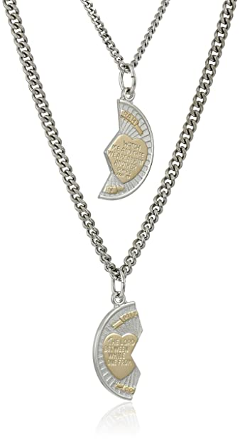b057f2ae020 Amazon.com  Sterling Silver Mizpah Medal Necklace with Stainless Steel  Chains