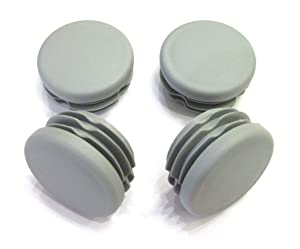 1 1/4 Inch Round Plastic End Cap (for Hole Size from 1 1/16 to 1 3/16, Including 1 1/8 inches), Furniture Finishing Plug (Grey, 4pcs)