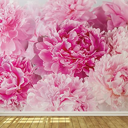 Soft pink flowers wallpaper mural amazon soft pink flowers wallpaper mural mightylinksfo