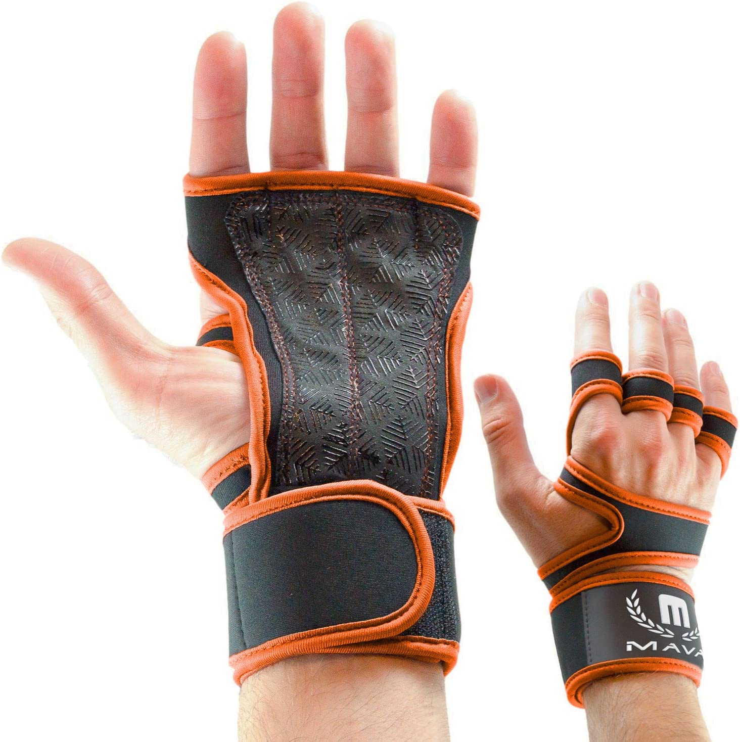 no Calluses Strong Grip Weightlifting WOD Mava Sports Cross Training Gloves with Wrist Support for Fitness Silicone Padding Gym Workout /& Powerlifting Men /& Women