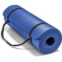 Spoga Premium - Esterilla de Yoga Extra Gruesa de 182,88 x 60,96 cm de Largo, Alta Densidad, con Espuma cómoda y Correas de Transporte