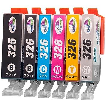 【クリックで詳細表示】Canon 互換インク カートリッジ BCI-326(BK/C/M/Y/GY)+BCI-325 6色マルチパック BCI-326+325/6MP 【Kingway限定】 対応機種:PIXUS MG8130 MG6130 MG5230 MG5130 MX883 iP4830 MX883 iX6530 MG8230 MG6230 MG5330 iP4930